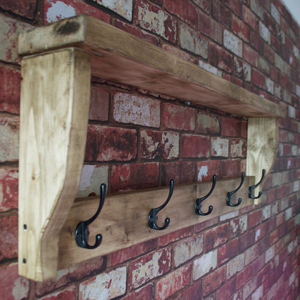 Coat Rack and Shelf